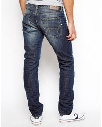 Edwin Blue Jeans Ed-80 Slim Tapered Blurred Wash for men