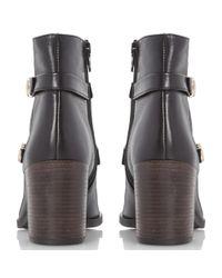 Dune Black Black Oren Double Strap Ankle Boots