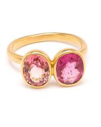 Marie-hélène De Taillac | Pink 18Kt Gold Spinel Duet Ring | Lyst