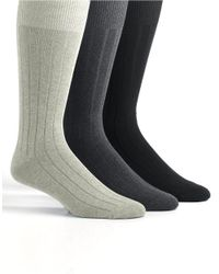 Tommy Bahama | Gray Three-pack Cayman Casual Crew Socks for Men | Lyst