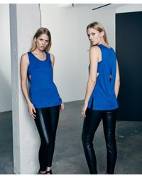 Lanston | Blue Side Slit Layered Tunic | Lyst