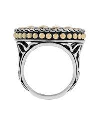 John Hardy Metallic Kawung 18k Gold & Sterling Silver Coin Ring