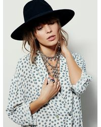 Free People - Blue Dream Time Sleep Shirt - Lyst