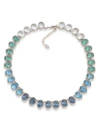 Carolee Blue Gems And Tonic Multi-Color Stone Necklace