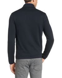 BOSS Blue Regular-fit Reversible Sweatshirt Jacket In Cotton Blend: 'fossa 16' for men