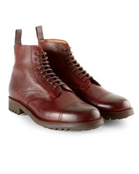Sunspel Purple X Cheaney Leather Boot for men