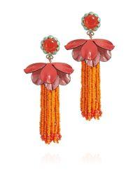 Tory Burch - Multicolor Rodeo Flower Beaded Drop Earring - Lyst