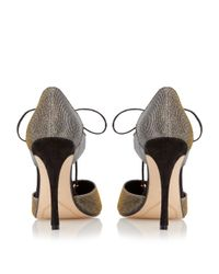 Dune Metallic Charleen Lace Up High Court Shoes