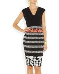 Zero + Maria Cornejo Black Biri Stretchtwill and Jacquard Dress