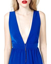 Nasty Gal - Metallic Vigilante Necklace - Lyst