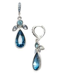 Givenchy | Blue Jeweled Drop Earrings | Lyst