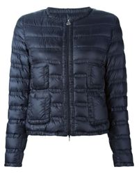 Moncler | Blue Lissy Quilted Jacket | Lyst