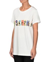 Moschino | White Short Sleeve T-shirts | Lyst