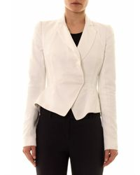 Alexander McQueen - Natural Embossed Tailored Jacket - Lyst