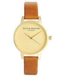 Olivia Burton | Metallic Tan Modern Vintage Watch | Lyst