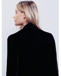 Free People - Black Yesterday's Muse Velvet Jacket - Lyst