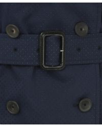 Paul Smith Black Label - Blue Navy Perforated Trench Coat - Lyst