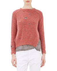 Étoile Isabel Marant - Rain Grunge-effect Sweater-pink Size 44 - Lyst