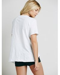Free People - White We The Free 757 Tee - Lyst