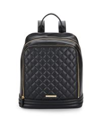 Vince Camuto | Black Rizzo Quilted Leather Backpack | Lyst