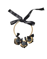 Marni | Black Bows Necklace | Lyst