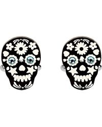 Tatty Devine | Black Sugar Skull Cufflinks - For Men for Men | Lyst