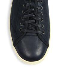 John Varvatos - Gray Hattan Nubuck Leather Low-top Sneakers for Men - Lyst