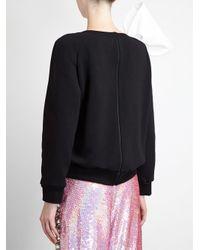 Ashish - Black Jersey Sweatshirt with Bow - Lyst