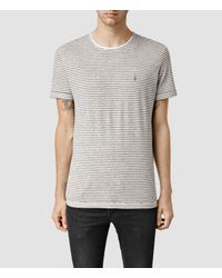 AllSaints | White Colton Baltis Crew T-shirt for Men | Lyst
