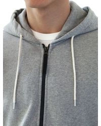 Stone Island Gray Dyed Cotton Fleece Sweatshirt for men