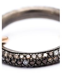 Spinelli Kilcollin | Black Pavé Diamond Linked Ring | Lyst