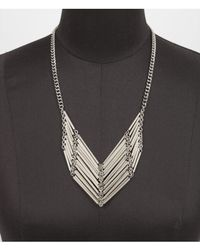 Express | Metallic Short Linked Tube Bead Necklace | Lyst