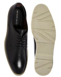 KG by Kurt Geiger Black Francis Leather Derby Shoes for men