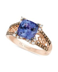 Le Vian   Pink Blueberry Tanzanite (2 Ct. T.w.) And Diamond (3/8 Ct. T.w.) Ring In 14k Strawberry Rose Gold   Lyst