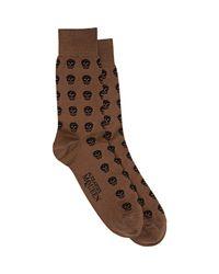Alexander McQueen - Multicolor Skull Mid-calf Socks for Men - Lyst