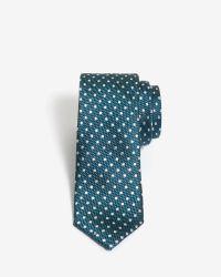 Ted Baker | Blue Spotty Silk Tie for Men | Lyst
