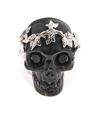 Alexander McQueen | Black Ivy Skull Ring | Lyst