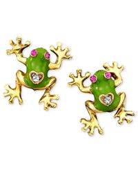 Betsey Johnson | Metallic Frog Stud Earrings | Lyst