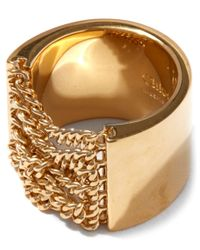Chloé | Gold Delfine Chain Ring | Lyst