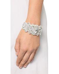 Deepa Gurnani - White Statement Crystal Bracelet - Ivory - Lyst
