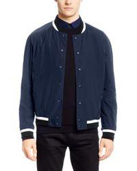 HUGO | Blue College Jacket 'barlin' In A Solid-coloured Design for Men | Lyst