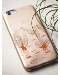 Free People - Natural Desert Leather Iphone Case - Lyst