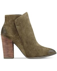 Guess | Green Women's Hardley Pointed-toe Booties | Lyst