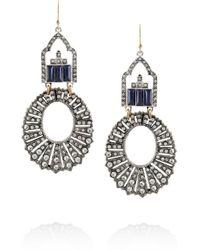 Lulu Frost - Metallic Silvertone Crystal Earrings - Lyst