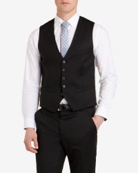 Ted Baker | Black Wool Vest for Men | Lyst