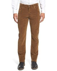 Bugatchi | Brown Straight Leg-five Pocket Corduroy Pants for Men | Lyst
