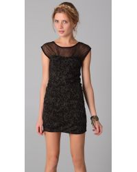 Free People | Black Lurex Starlight Party Dress | Lyst