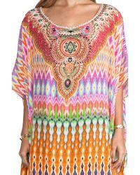Camilla | Multicolor V-neck Printed Silk Long Coverup Dress | Lyst