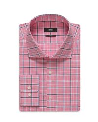 BOSS - Pink 'miles Us' | Sharp Fit, Cotton Dress Shirt for Men - Lyst