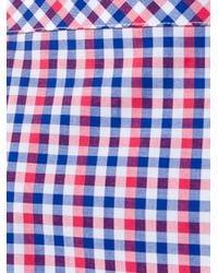 Stella Jean - Blue Impiantista Gingham Short Sleeve Top - Lyst